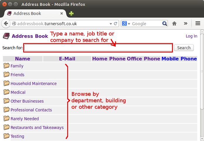 LDAP Address Book - User Guide